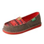 Angled picture of the outter side of the Kid's Twisted X ECO Slip-On Loafer YCL0002