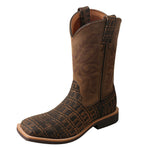 Angled picture of the outter side of the Kid's Twisted X Western Work Boot YCW0011