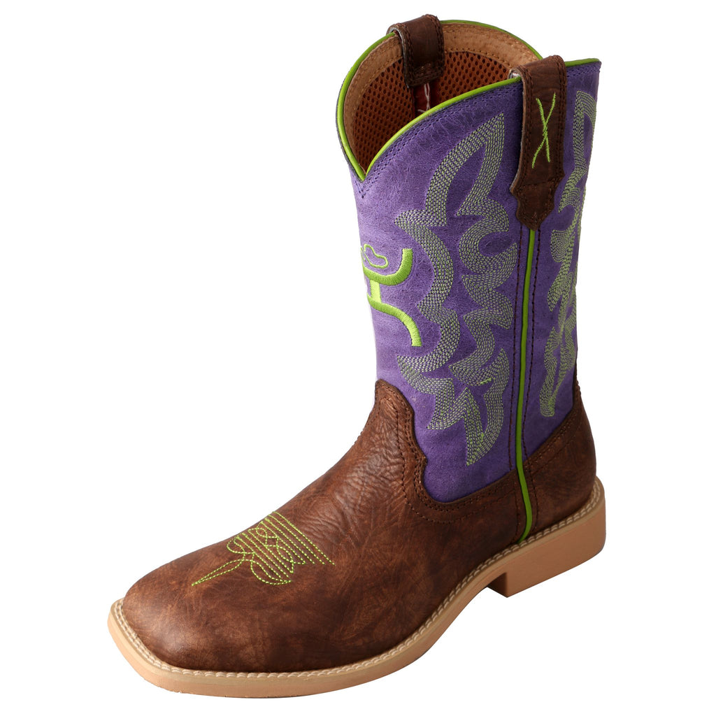 Angled picture of the outter side of the Kid's Twisted X Hooey Boot YHY0004