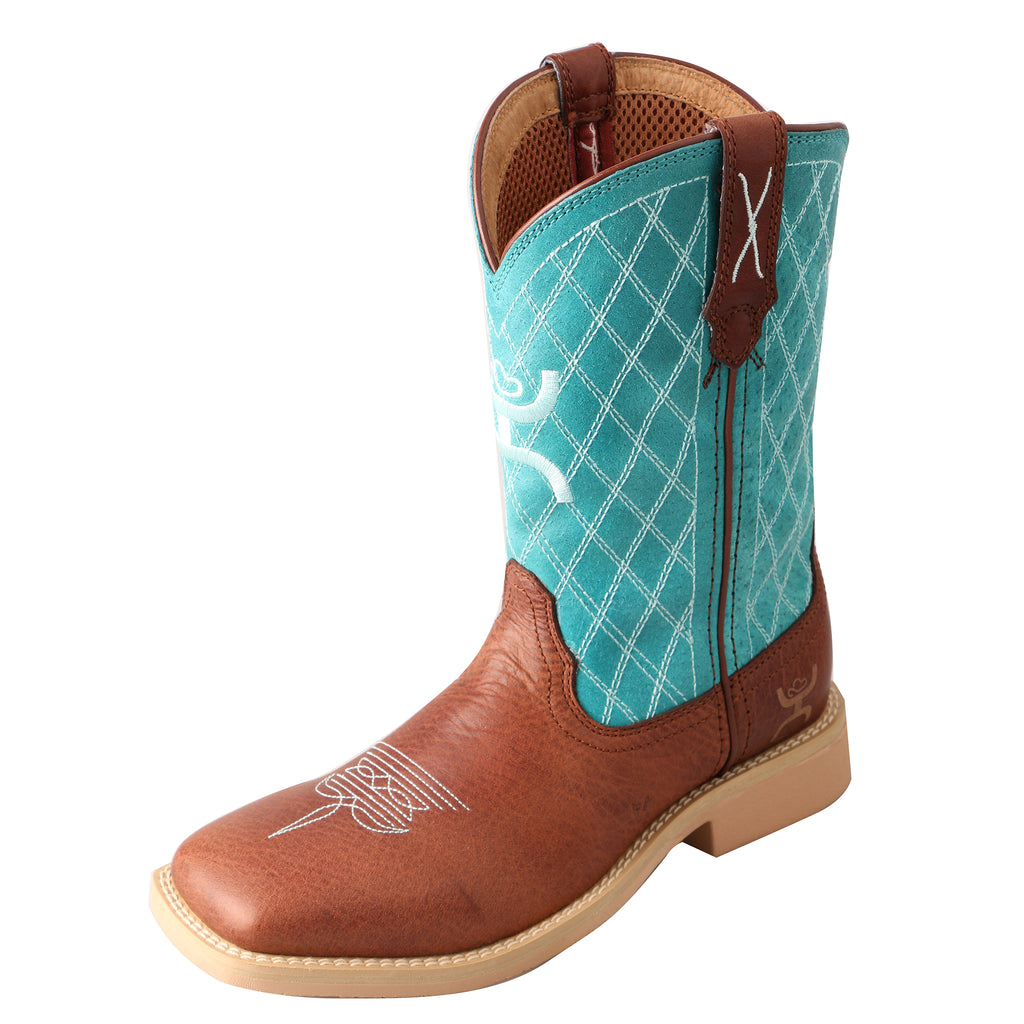 Angled picture of the outter side of the Kid's Twisted X Hooey Boot YHY0006
