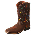 Angled picture of the outter side of the Kid's Twisted X Top Hand Boot YTH0011