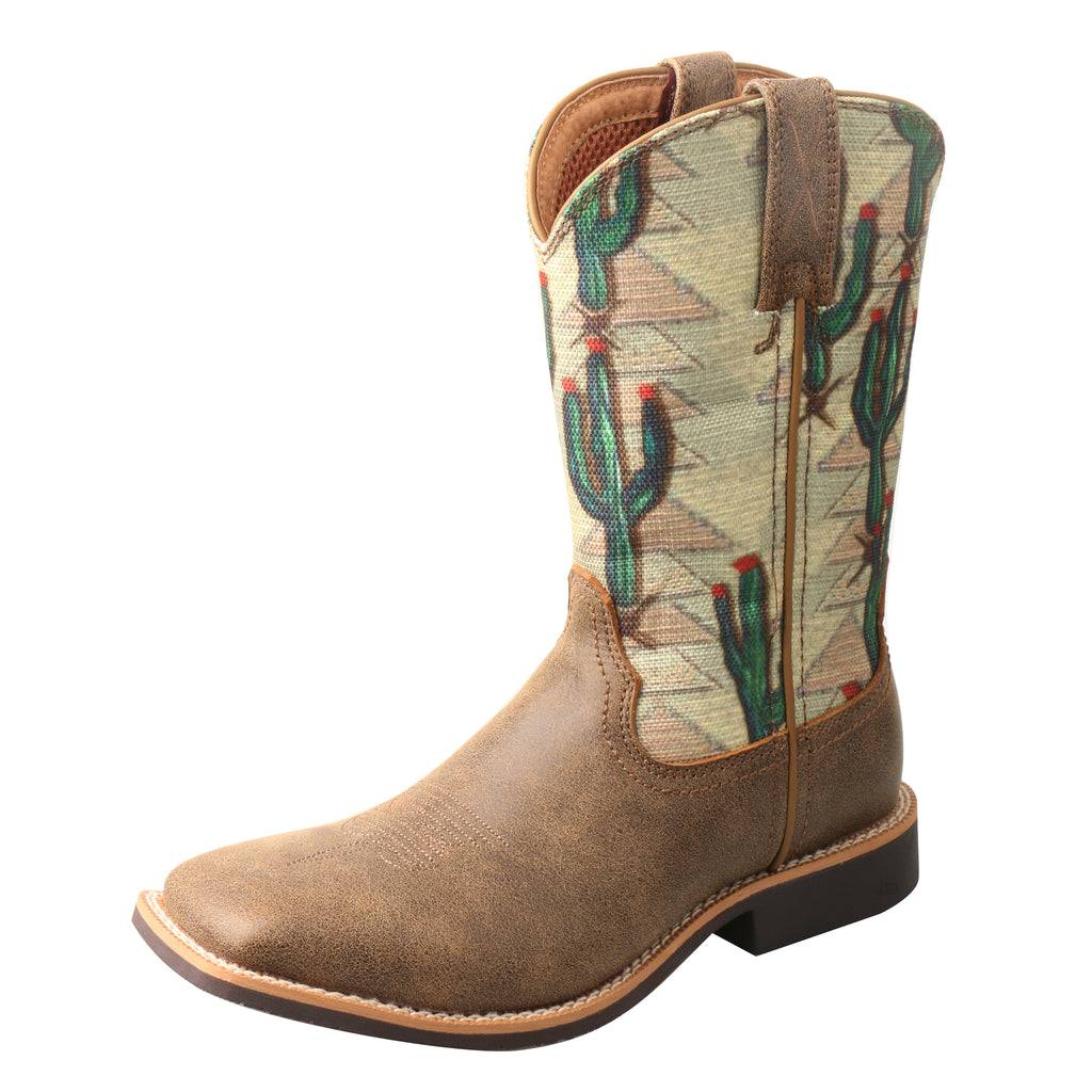 Angled picture of the outter side of the Kid's Twisted X Top Hand Boot YTH0012