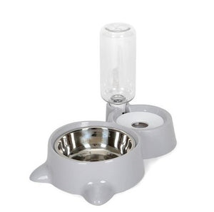 TCW045  Double bowl stainless steel pet automatic drinking water feeder anti-tipping