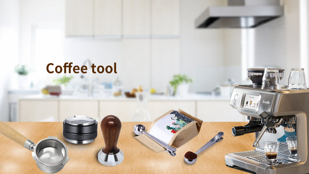 304 Stainless Steel Flat Base Wooden Handle Coffee Distributor Coffee Tools Tamper 51mm Barista 58mm Tamper
