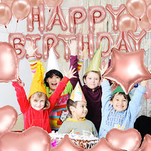 Afbeelding in Gallery-weergave laden, 70pcs Rose Gold Birthday Party Decorations Happy Birthday Banner Latex Balloon with Foil Balloon