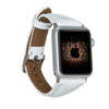 MODENA Slim Luxury Handmade White Leather Apple Watch Band 38-40mm 42-44mm