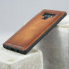 BEMFEY Samsung Note 9 Leather Case Como - Elegant Premium- Made in Europe (Brown Burnished Tan)