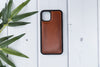 "Brown Burnished Apple iPhone 11 PRO MAX (6.5"") Leather Case"