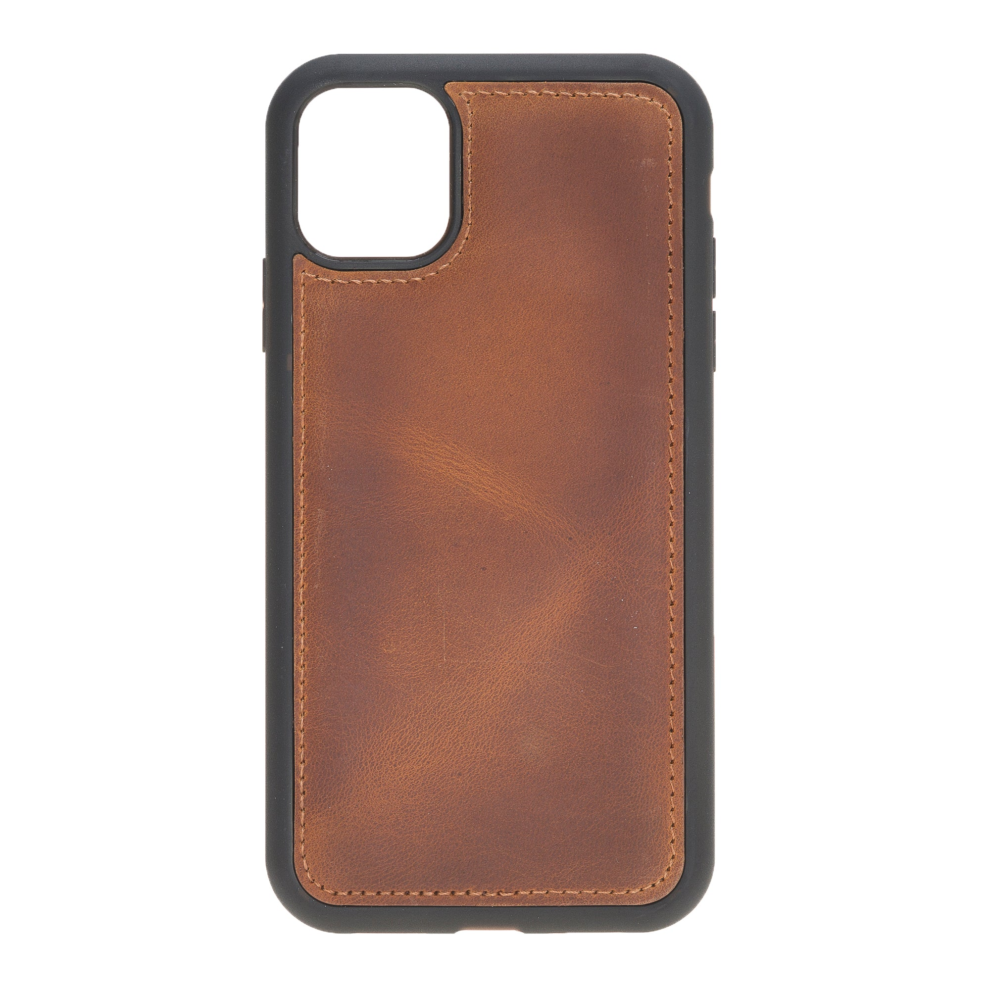 "Vintage Brown Apple iPhone 11 (6.1"") Leather Case"