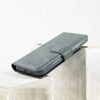 Dark Gray Apple iPhone X / XS Leather 2in1 Wallet Case
