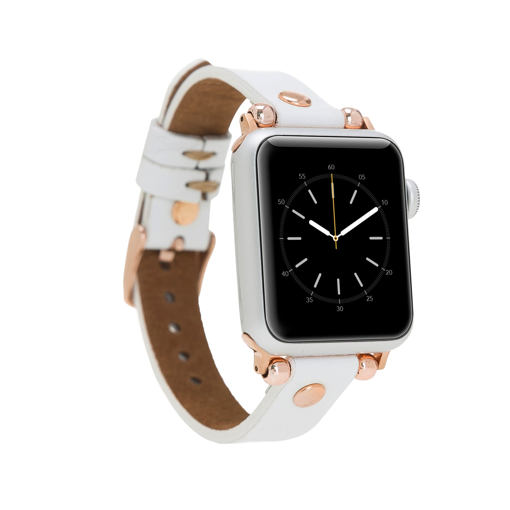 White Leather Apple Watch Band