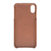 Monza iPhone XS Max Brown Burnished Tan without credit card slots