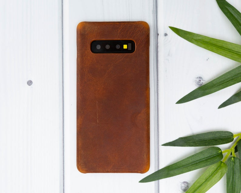 Antique Brown Leather Samsung Galaxy S10