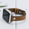 MODENA Slim Handmade Luxury Vintage Brown Apple Watch Band 38-40mm 42-44mm