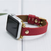MODENA Slim Handmade Luxury Vegetal Red Leather Apple Watch Band 38-40mm 42-44mm