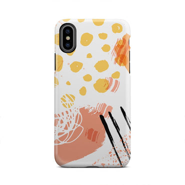 Orange And White Make Up Paint Splatter iPhone X - urbanlashed