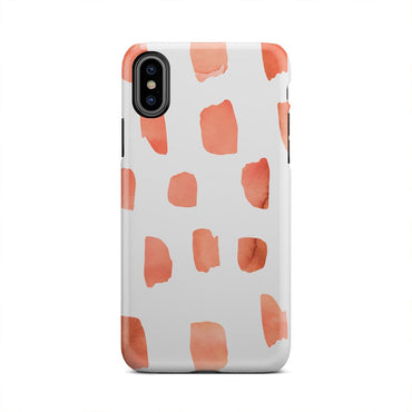 Orange Abstract Make Up Think Paint iPhone X Case - urbanlashed