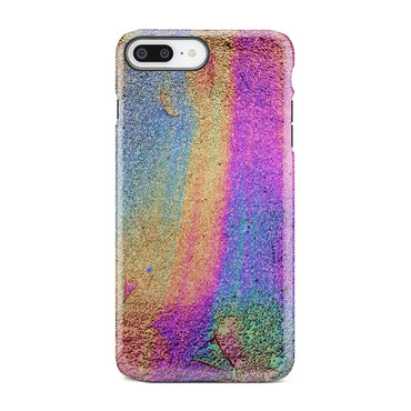 Rainbow Make Up Texture Rough Foil iPhone X Case - urbanlashed