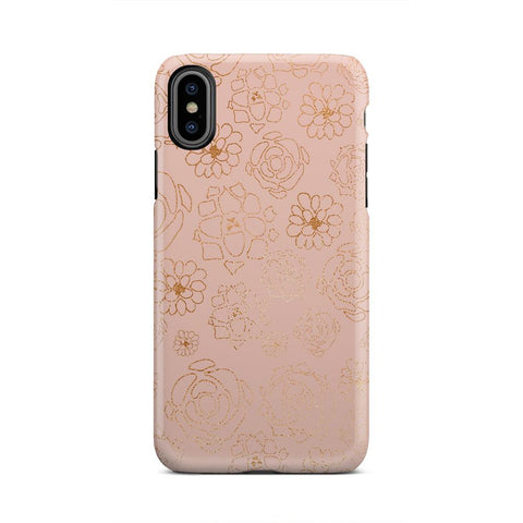 Peach Gold And Pink Make Up Light Design iPhone X - urbanlashed