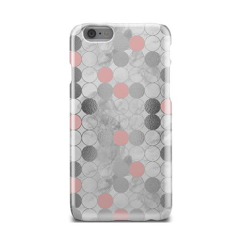 Geometric Circle Make Up Kit Marble iPhone X Case - urbanlashed