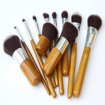 11pcs Vegan Makeup Brush With Bamboo Handle - urbanlashed