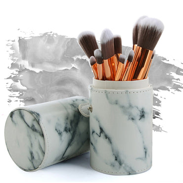 10pcs Marbled Makeup Brush Set - urbanlashed