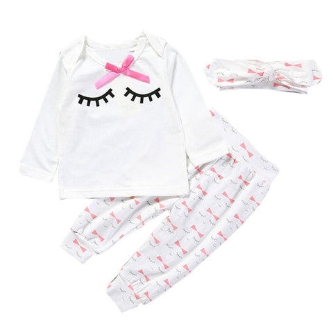 Newborn Infant Baby Girl Eyelash Onesie - urbanlashed
