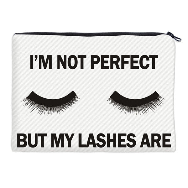 Deanfun Cosmetic Bags 3D Printed Eyelash with Letter Necessaries for Women Travelling Dropshipping 85029 - urbanlashed