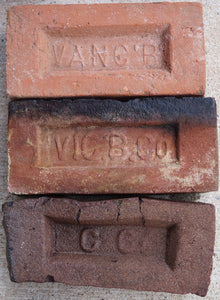 From top to bottom: clean, stressed, and deformed brick