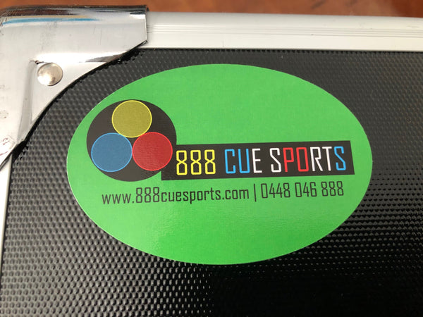 """888 Exclusive"" 888 Cue Sports Logo High Gloss Oval Sticker"
