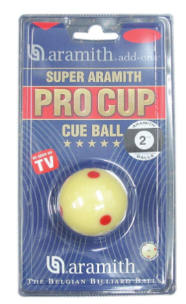 Aramith Pro Cup Dotted Cue Ball