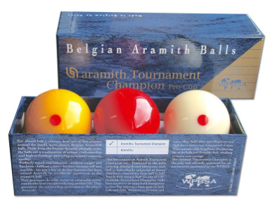 Aramith Tournament Champion 2 1/16 Billiard Ball Pro Cup Set