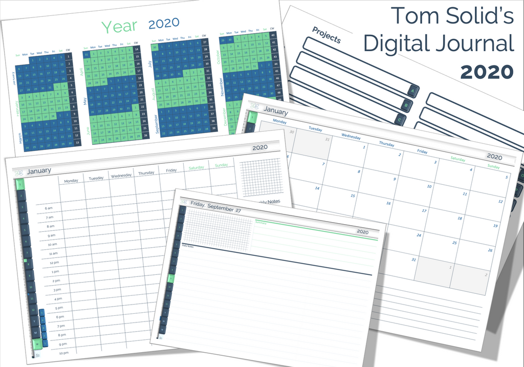 Tom Solid's Digital Journal 2020 - Landscape + Portrait Format