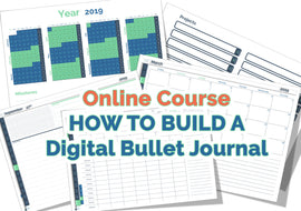"PRE-SALE! Online Course - ""How to build a Digital Bullet Journal Like a Pro"""