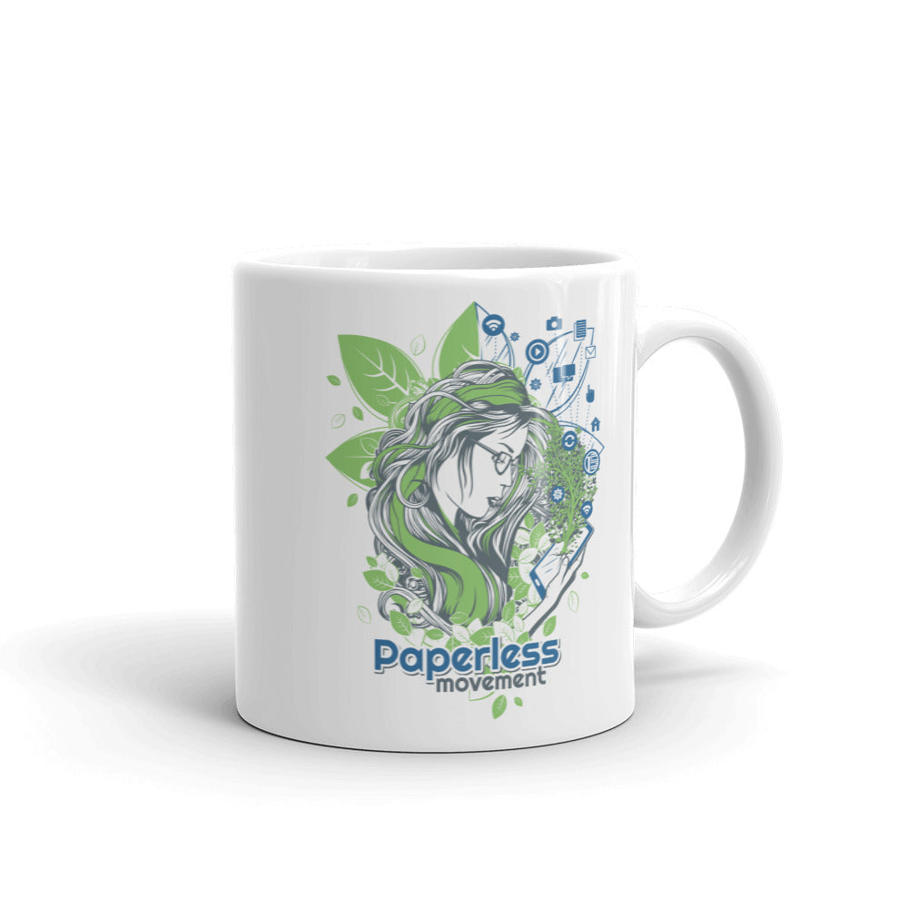 "Mug - ""PaperlessMovement Logo + Design"""