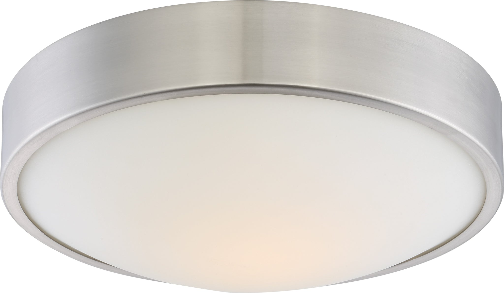 Westinghouse 6107300 11-Inch LED Indoor Flush Mount Ceiling Fixture Brushed Nickel Finish with Frosted Acrylic Shade