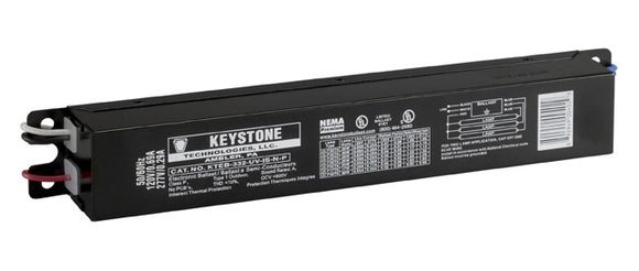 Keystone KTEB-332-UV-IS-N-P-BP - (3) Lamp Fluorescent Ballast