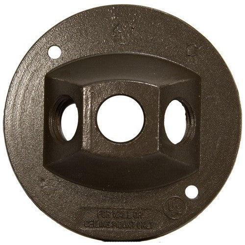 Morris Products 36844 4 inch Rnd Cover 3-1/2 inch Hole Brnz