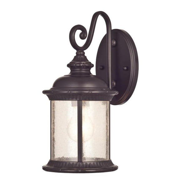 Westinghouse 6230600 1 Light Wall Lantern Oil Rubbed Bronze Finish with Clear Seeded Glass