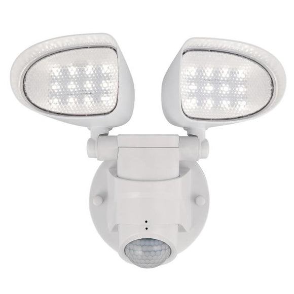 Westinghouse 6364200 Two Light LED Security Light Wall Fixture - Motion Sensor - White Finish - Acrylic Lens