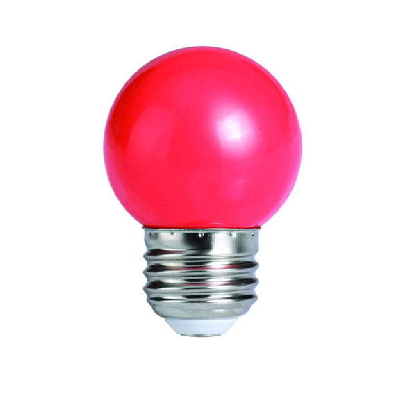Bulbrite 770153 1 Watt G14 LED Globe Red