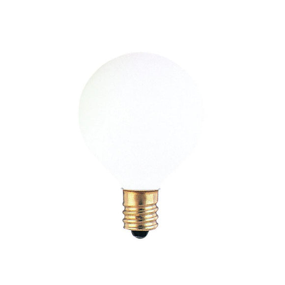 Bulbrite 300015 15 Watt G12 Incandescent White Globe