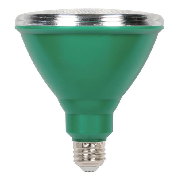 Westinghouse 3314900 15 Watt LED PAR38 Outdoor Reflector - Green - E26-Medium Base - 120 Volt - Box