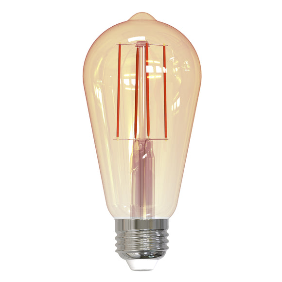 BULBRITE 776909 7 Watt ST18 Filament Nostalgic - E26 Medium Base - 2100 Kelvin Warm White - 650 Lumens - Antique - 120 Volt