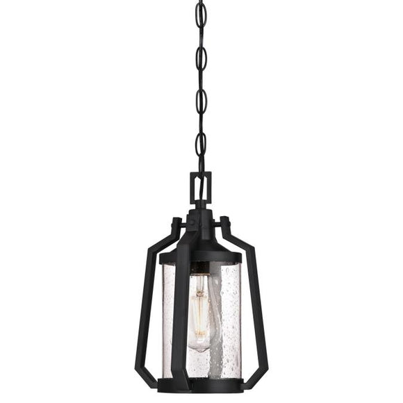 Westinghouse 6347600 One Light Pendant, Matte Brushed Gun Metal Finish, Clear Seeded Glass
