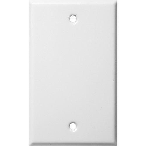 Morris Products 83312 White 1 Gang Blank Metal