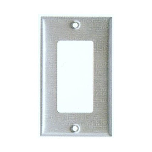 Morris Products 83110 430 Stainless Steel Wall Plates 1 Gang Decorative/GFCI - 430 Stainless Steel Wall Plates 1 Gang Decorative/GFCI