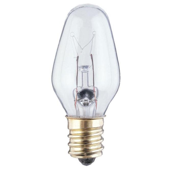 Westinghouse 3720200 7 Watt Incandescent C7 Specialty Clear - 2700 Kelvin - Warm White - 43 Lumens - E12-Candelabra Base - 120 Volt - Card - 4-Pack