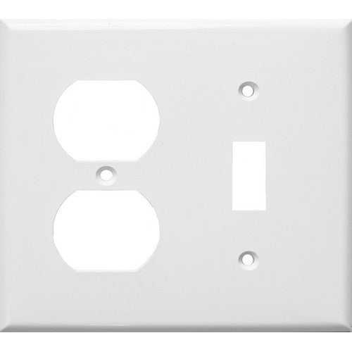 Morris Products 81291 White 2 Gang 1Duplex 1Toggle