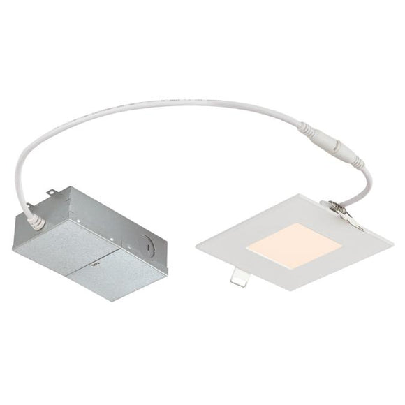 Westinghouse 5187000 4-Inch Slim Square Recessed LED Downlight - 10 Watt - 3000 Kelvin - ENERGY STAR